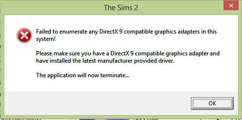 directx 9 install failed
